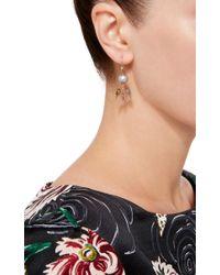 Daniela Villegas | Metallic 18k Gold And South Sea Pearl Khepri Fairy Earrings | Lyst