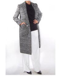 Carven - Gray Manteau Bouclé Coat - Lyst