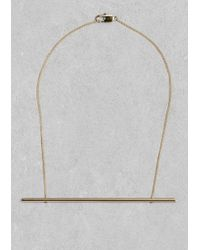 & Other Stories | Metallic Horizontal Bar Necklace | Lyst