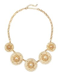 Jules Smith - Metallic Solar Pearly Golden Necklace - Lyst