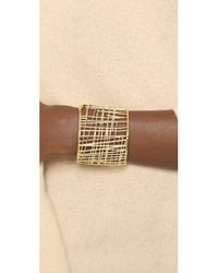 Marc By Marc Jacobs | Metallic Scribble Cuff Metal Bracelet - Oro | Lyst
