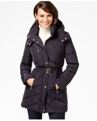 Ivanka Trump - Blue Belted Down Puffer Coat - Lyst
