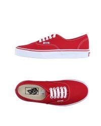 Vans - Red Low-tops & Trainers - Lyst