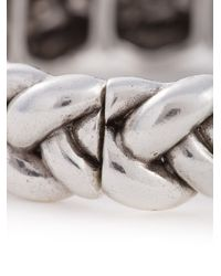 Philippe Audibert | Metallic Chunky Braided Bracelet | Lyst