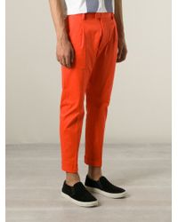 DSquared² - Black Chino Trousers for Men - Lyst
