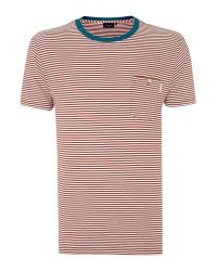 Paul Smith | Multicolor Paul Smith Contrast Neck Stripe T Shirt for Men | Lyst