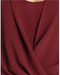 BCBGMAXAZRIA | Purple Jaklyn Draped-front Top | Lyst