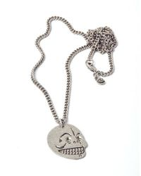 Cheap Monday - Metallic Skull Necklace for Men - Lyst