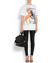 Givenchy - Black Leather Skinny Pants - Lyst