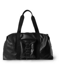 Alexander McQueen | Black Leather Holdall for Men | Lyst
