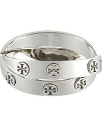 Tory Burch | Metallic Double-wrap Logo Bracelet | Lyst