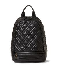 Steve Madden | Black Quilter Faux Leather Backpack | Lyst