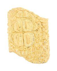 Givenchy   Metallic Crocodile Cuff   Lyst
