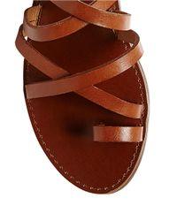 Steve Madden | Brown Antler Leather Sandals | Lyst