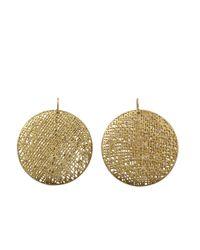 Yossi Harari | Metallic Round Lace Diamond Earrings | Lyst