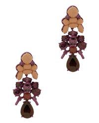 EK Thongprasert - Purple 3tier Drop Round Jewel Earring - Lyst