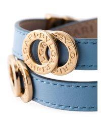 BVLGARI | Blue Double Strap Bracelet | Lyst