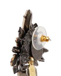 Erickson Beamon - Black 'golden Rule' Crystal Cluster Earrings - Lyst