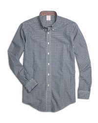 Brooks Brothers - Blue Non-iron Regent Fit Micro Check Sport Shirt for Men - Lyst