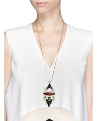 Iosselliani | Multicolor Pyramid Crystal Pendant Necklace | Lyst