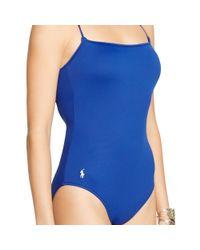 Polo Ralph Lauren | Blue Lace-up One-piece | Lyst