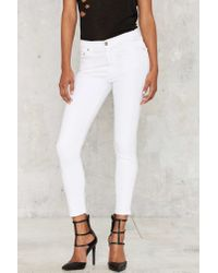 adc683b59f4 Citizens of Humanity. Women's Rocket Crop High Rise Skinny Jeans - Optic  White