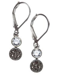 Judith Jack - Metallic Marcasite And Crystal Double Drop - Lyst