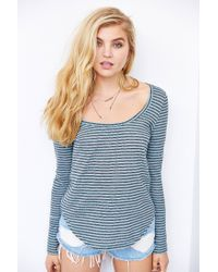 BDG - Blue Striped Winterlite Top - Lyst