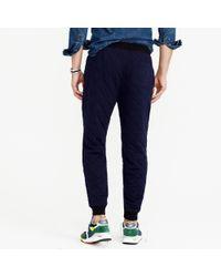 J.Crew | Blue Slim Quilted Sweatpant for Men | Lyst