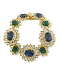 Kenneth Jay Lane | Multicolor Sapphire And Emerald Bracelet | Lyst