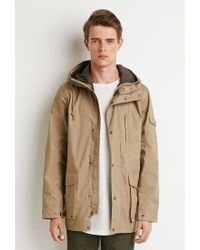Forever 21 | Natural Hooded Utility Jacket for Men | Lyst