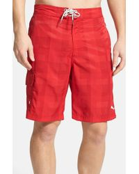 Tommy Bahama | Red The Baja Check-Print Swim Shorts for Men | Lyst