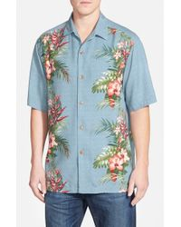 Tommy Bahama | Blue 'leilani Vines' Original Fit Silk Camp Shirt for Men | Lyst