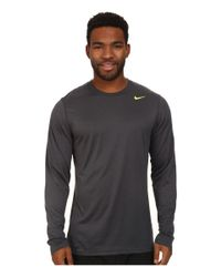 Nike | Gray Legend Dri-fit™ Poly L/s Crew Top for Men | Lyst