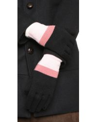 kate spade new york - Pink Colorblock Gloves - Lily Pad - Lyst