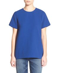 Madewell | Blue Pleated Short Sleeve Tee | Lyst
