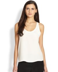 Theory | Natural Isaac Silk Tank | Lyst