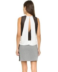 Apres Ramy Brook | White Bria Mini Dress - Black/black | Lyst