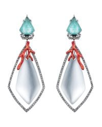 Alexis Bittar - Blue Lucite Bedarra Clip-On Earrings - Lyst