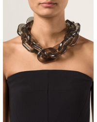 Stella McCartney - Black Plexy Chain Necklace - Lyst