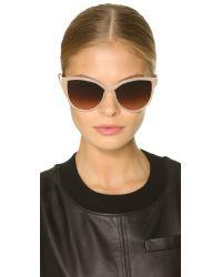 Stella McCartney - Cat Eye Sunglasses - Opal Beige/brown Gradient - Lyst