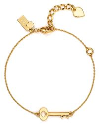kate spade new york | Metallic Charming Key To My Heart Bracelet | Lyst