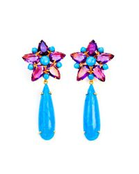 Bounkit | Blue Amethyst And Turquoise Earrings | Lyst