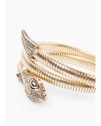 Mango - Metallic Snake Bracelet - Lyst