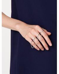 Eddie Borgo | Metallic Thin Five Finger Ring | Lyst