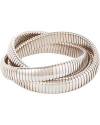 Sidney Garber - Metallic White Gold Threeband Rolling Bracelet - Lyst