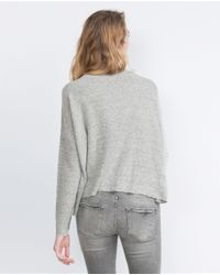 Zara | Gray Soft Top | Lyst
