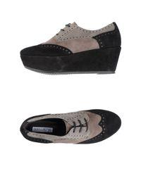 Donna Più - Black Lace-up Shoes - Lyst