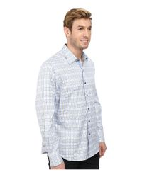 Robert Graham - Blue Eastland Long Sleeve Woven Shirt for Men - Lyst