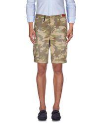 0/zero Construction - Natural Bermuda Shorts for Men - Lyst